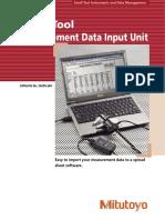 Mitutoyo - System Przenoszenia Danych Measurement Data Input Unit - E4250-264 - 2006 EN