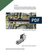 COMPONENTES - FAJA TRASPORTADORA + DISPOSITIVO DE PARP