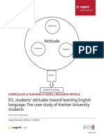 EFL Students' Attitudes Toward