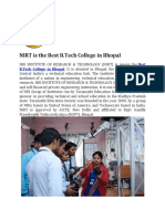 NIRT is the Best BTech College in Bhopal