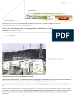 Practical Considerations for Siting Utility-Scale Battery Projects