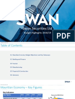 Swan Securities Ltd Budget Highlights 2018/19