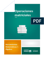 Operaciones matriciales