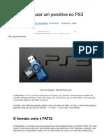 Como Usar Um Pendrive No PS3 - TecMundo