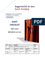 BdB KAM AC 2017 002 Audit Checklist Ships 500GT