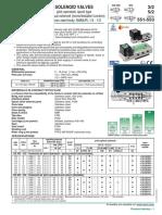 Solenoid Valves 3_2 5_2 Stainless Steel Body 551 553 CAT 80114GB