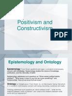 Positivism and Constructevism