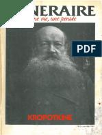 Itinéraire une vie une pensée n°3 juin 1988-Kropotkine