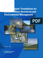Water Budgets-Foundations for Effective Water-Resources and Environmental Management