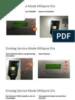 Millipore Elix Service Mode