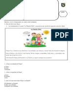 Evaluación de Formación Valórica 1°