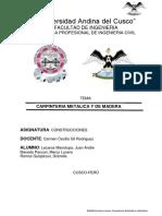 Carpinteria Metalica y Madera