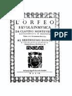 Monteverdi - L'Orfeo, Favola in Musica (prima edizione 1609).pdf