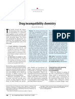 Drug Incompatibility Chemistry