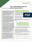 Informe Mortalidad Materna - 2017 Ministerio de Salud PBA