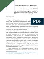 Lexicografia Histórica e Questões de Metodo