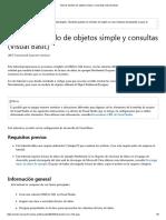 Tutorial_ Modelo de Objetos Simple y Consultas (Visual Basic)