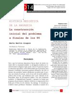 Icono14. A8/ESP. Historia mediática de la anorexia. La construcción inicial del problema a finales de los 90
