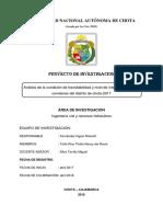 PROYECTO FINAL 1. Nivel de Intervención en Carreteras