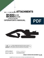 Sk300nlc-10 2 Pcs Boom Op Manual
