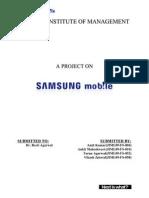 Marketting Strategic Analysis of Samsung Mobiles