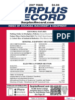 JULY 2018 Surplus Record Machinery & Equipment Directory