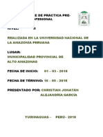 Informe de Práctica Pre. III Docx Origuinal Correido
