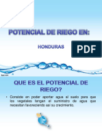 Potencial de Riego en Hondurasl 2