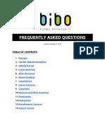 Bibo FAQs - Updated