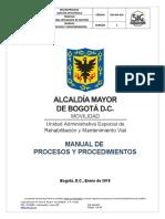 SIG-MA-003-V5 Manual de Procesos y Procedimientos UAERMV