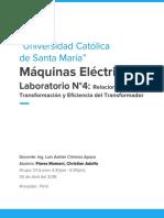 Informe 4 Máquinas Eléctricas