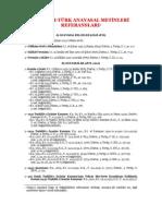 Osmanlı-Türkiye Anayasaları ve anayasal belgeleri ve değişiklikleri referansları