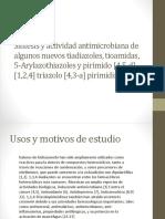 Síntesis y Actividad Antimicrobiana de Algunos Nuevos Tiadiazoles [Autosaved]