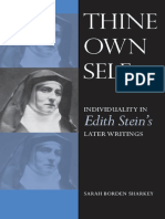 Sarah Borden Sharkey - Thine Own Self_ Individuality in Edith Stein's Later Writings (2009, The Catholic University of America Press)