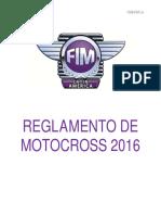Reglamento Motocross CMS 2016