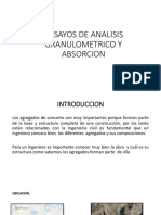 Ensayos de Analisis Granulometrico y Absorcion