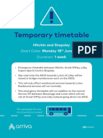 Hitchin - Stopsley Temporary Timetable 18 06 18 - 22 06 18