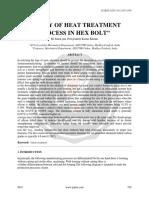Study of Heat Treatment Process in Hex Bolt Ijariie6031