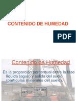 Contenido de Humedad y Análisis de granulometría de una muestra de suelo