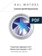 GM Customer Specific Requirements