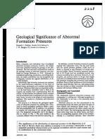 Geological Abnormal Pressure