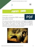 Virus Zika y Mosquitos OGM_ Cosas Que Te Ocultan y Que Debes Conocer - Ecoportal