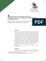 Proceso de Elaboración Del Curriculo