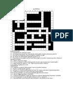 Crucigrama (Materia). Grados 10 y 11