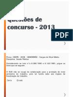 Questoes de Concurso - 2013