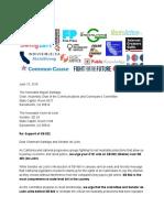 SB 822 Progressive Support Letter