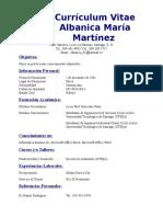 Albanica María Martínez