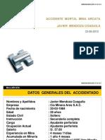Accidente Mortal Ventilacion Javier Mendoza Arcata 2012