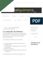 La conquista de América | Portalquimera