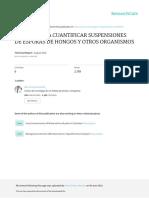 Metodo Para Cuantificar Suspensiones de Esporas de Hongos y Otros Organismos